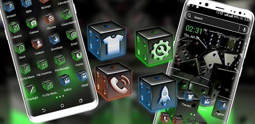 3D Dice Neon Launcher Theme apk