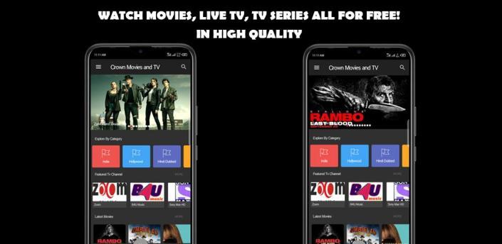 CrownMovies-Bollywood Hollywood Movies,Tv series & Watch Live tv apk