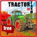 Tractor In Farm Icon
