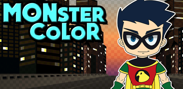 The Color Games Teen Titans Superhero Monster Matches apk