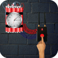 Time Bomb Crack Screen - Bombs explosions Prank Icon