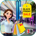 Black Friday sale shopping mall cashier ATM machin Icon