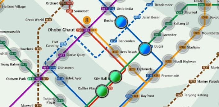 Singapore MRT Map Route(Subway, Metro Transport) apk