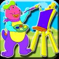 Coloring Big Dino Icon