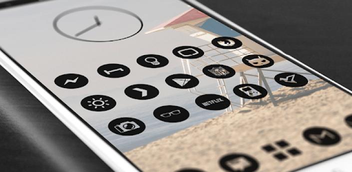 Dark Void - Black Circle Icons (Free Version) apk