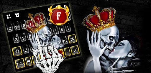 Crown Skull Kiss Keyboard Theme apk