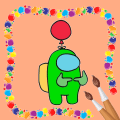 Coloring Book For Among us. Offline Icon