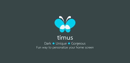 Timus Dark Icon Pack apk