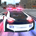 American i8 Police Car Game 3D Icon