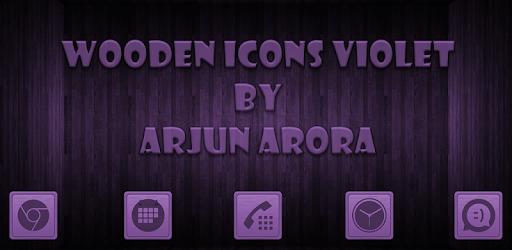 Wooden Icons Violet apk