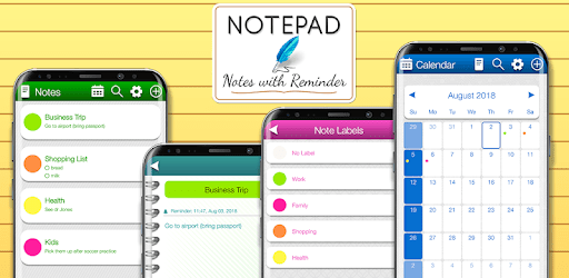 Notebook with Date Time Reminder apk