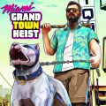 Miami Gangster Grand Town Heist: Real Gangster 3D Icon