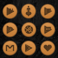 Wooden Radial Icons Icon