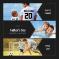 Happy Father's Day Photo Frames Cards Icon