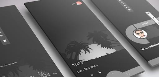 DARK Elegant TS7E UI for Klwp apk