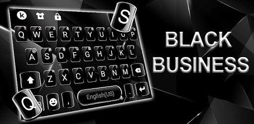 Black Classic Business Keyboard Theme apk