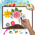 Learn How to Draw Flowers Step by Step Icon