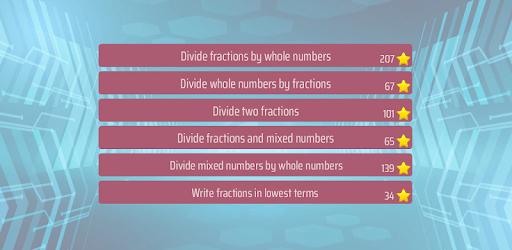 Dividing Fractions Math Game apk