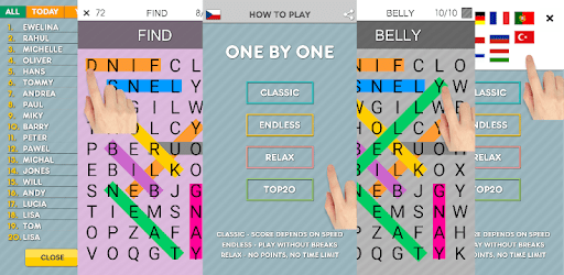 One By One - Free Multilingual Word Search apk