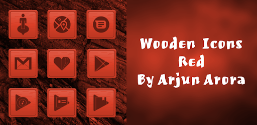 Wooden Icons Red By Arjun Arora apk