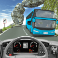 Offroad Tourist Bus Driver 3D Icon