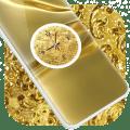 Gold Clock Live Wallpaper Icon