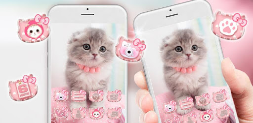 Cute, Kawaii Kitty Cat Theme & Live Wallpaper apk