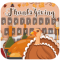 Happy Thanksgiving Day Keyboard Icon