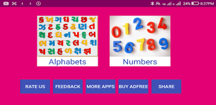Learn Gujarati Alphabets and Numbers apk