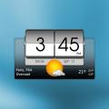 3D Flip Clock & Weather Icon