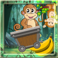 Monkey Cart Jungle Run Icon