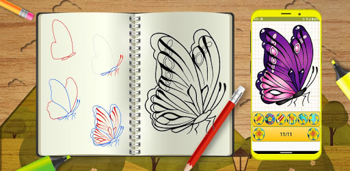 Learn To Draw Colorful Butterfly Step by Step apk