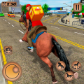 Mounted Horse Riding Pizza Guy: Food Delivery Game Icon