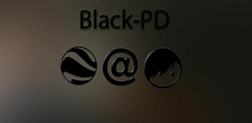 Black-PD Icon Pack apk