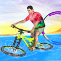 Bicycle Water Surfing Beach Stunts Icon