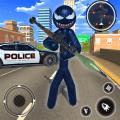 Spider Stickman Rope Hero - Black Hero Vice Town Icon