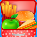 High School Lunch Box Maker & Decoration. Icon