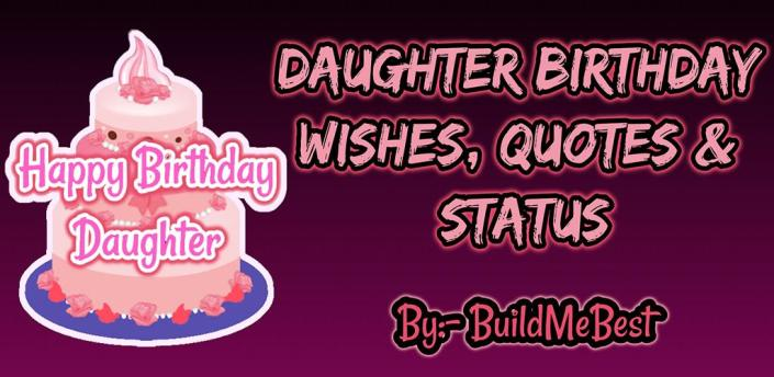 Birthday Wishes for Daughter, Greeting Card Quotes apk
