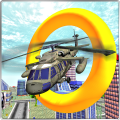 City Helicopter Flight Stunt Icon
