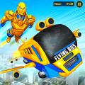 Flying Bus Robot Transform War: Robot Hero Game Icon