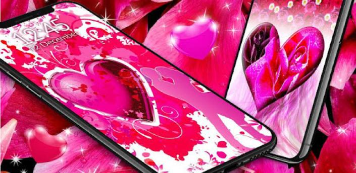Sweet Love Live Wallpaper ❤️ HD Hearts Wallpapers apk