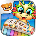 123 Kids Fun DRAGON PIANO Free - Top Educational Music Games for Toddlers and Preschoolers Icon