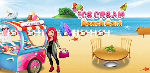 Ice Cream Beach Cart: Ice Popsicle Shop Games apk
