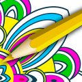 Mandala Pages Coloring Book Icon