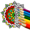 Coloring Book – mandala & coloring pages Icon