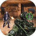 US Police Zombie Shooter Frontline Invasion FPS Icon