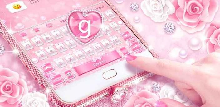 Pink Diamond Keyboard Theme apk