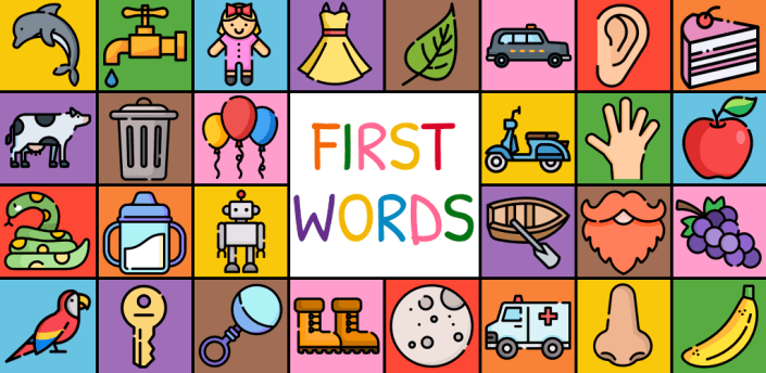 First Words Flashcards for baby/toddler/kids apk