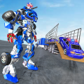 US Police Robot Transport Truck Driving Games Icon