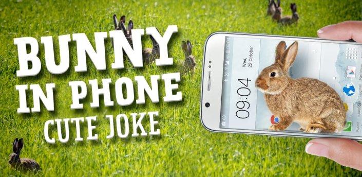 Bunny in Phone Cute joke apk